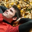 Resting and day dreaming man — Stock Photo