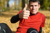 Positive sportsman — Stock Photo