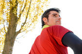 Manhood of handsome sportsman — Stock Photo