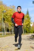 спортивная(ый) бегун — Стоковое фото