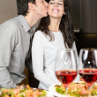 Couple dinner with love — Stock Photo
