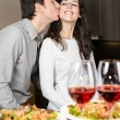 Stock Photo: Couple dinner with love