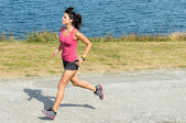 Fitness woman running — Stock Photo