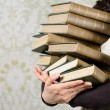 Old books reading concept — Stock Photo