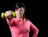 Fitness woman training — Stock Photo