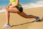 Sport and stretching concept on summer — Stock Photo
