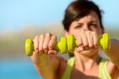 Fitness no conceito de verão — Fotografia Stock