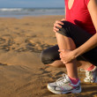Stock Photo: Runner injury shin splint