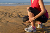 Runner injury shin splint — Stock Photo
