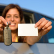 Driving license and car keys — Stock Photo