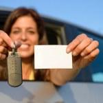 Driving license and car keys — Stock Photo #26768041