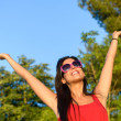 Woman happiness in nature summer — Stock Photo #27695797