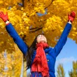 Freedom and happiness in autumn — Stock Photo #29280617