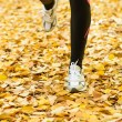 Runner on autumn season — Stock Photo