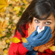 Windy autumn cold and flu — Stock Photo #29652105