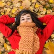 Stock Photo: Woman enjoying autumn