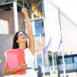 Female college student success and achievement — Stock Photo