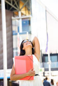 Female college student success — Foto Stock