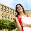 Beautiful europecollege female student — Stock Photo #29963057