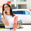 Car sales business woman success — Stock Photo