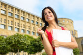 Beautiful european college female student — Stock Photo