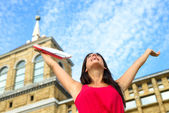 Female student success and happiness — Stock Photo