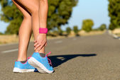 Running and sport ankle sprain injury — Stock Photo