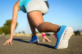 Running footwear and sport concept — Stock Photo