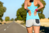 Low back sport injury and pain — Stock Photo