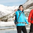Winter hiking couple — Stock Photo #31496981