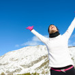 Sport and exercising winter success — Stock Photo