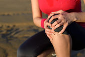 Knee runner injury — Stock Photo