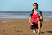 Runner sweating and taking a break — Stock Photo