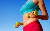 Fitness sweaty body workout — Stock Photo
