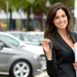 Stock Photo: Car sales woman