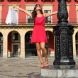 Woman shopping in Spain — Stock Photo