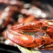 Stock Photo: Lobster grill