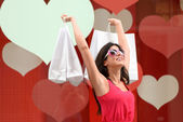 Succesful woman shopping — Stock Photo