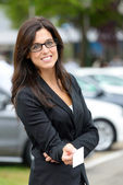 Car rental and sales representative — Stock Photo