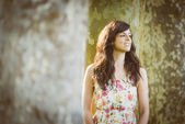 Young woman spring portrait — Stock Photo