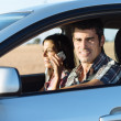 Couple on car travel — Stock Photo #43985703