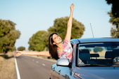 Car travel freedom — Stock Photo