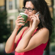 Casual bussiness woman on coffee break — Stock Photo
