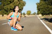 Running knee pain — Stock Photo
