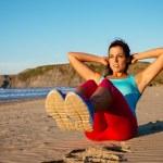 Fitness woman sit ups workout — Stock Photo #48872221