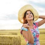 Female happy farmer success — Stock Photo #51019389