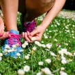 Woman running in spring concept — Stock Photo #51019599