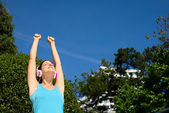 Fitness and sport success woman — Stock Photo