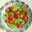 Stock Photo: салат с помидорами,green salad with tomatoes