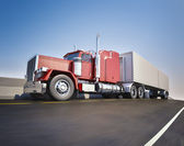 Big 18 wheeler — Foto Stock